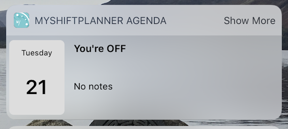 How to set up the iOS Widget for My Shift Planner