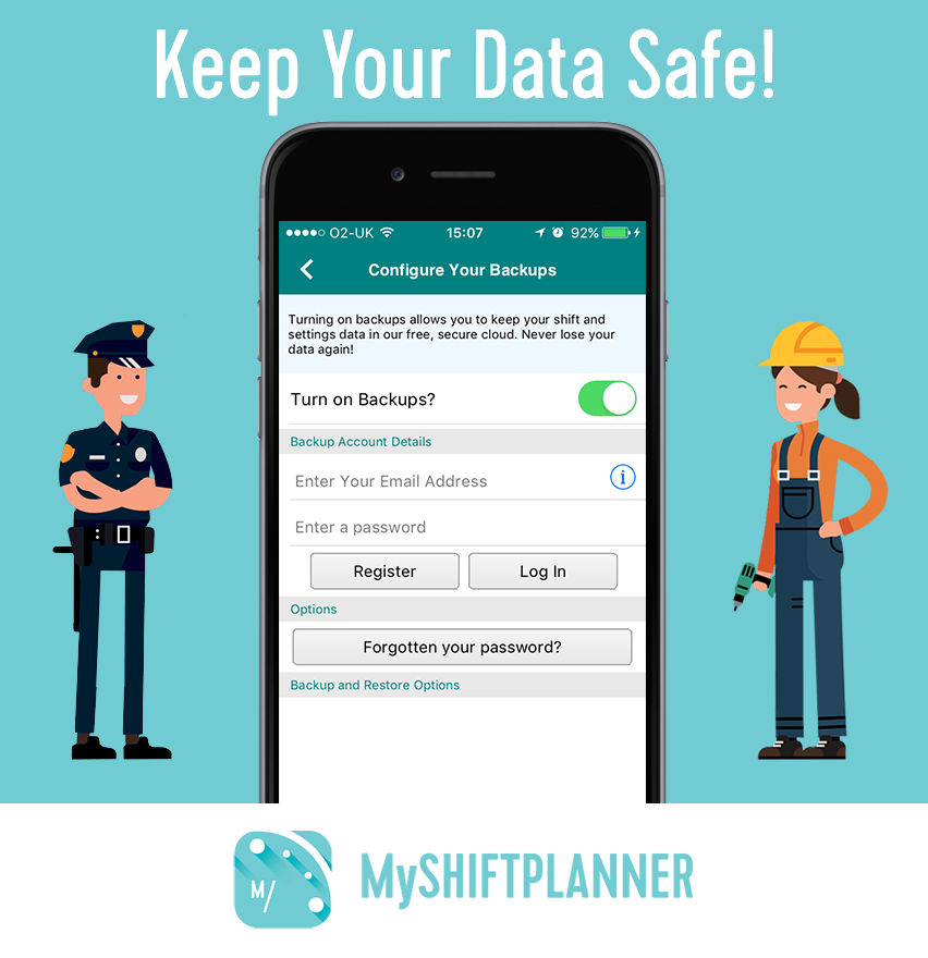 Is Your My Shift Planner Shift Calendar Backed Up?