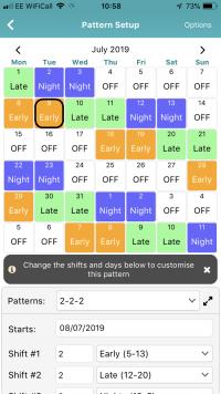 Pattern Set Up