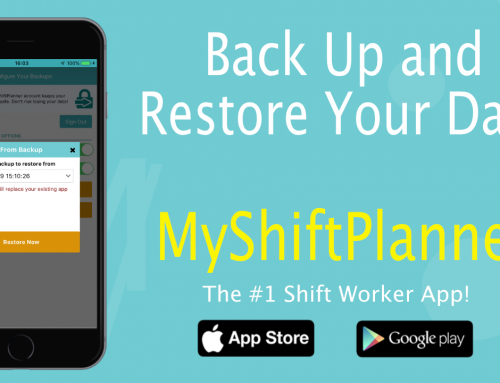 Backup/Restore Options in My Shift Planner