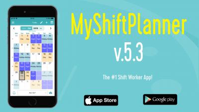 Version 5.3. of MyShiftPlanner
