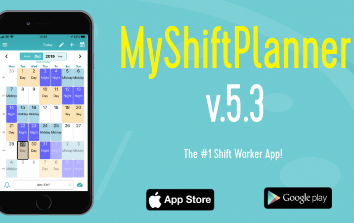 Version 5.3. of MyShiftPlanner