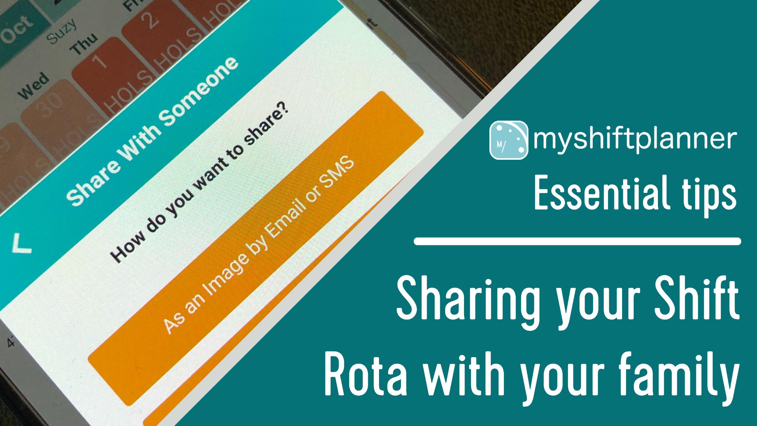 Sharing your shift rota